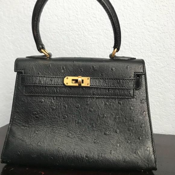 Hermes Handbags - Hermès mini Kelly ostrich 7ab1809dd86d6